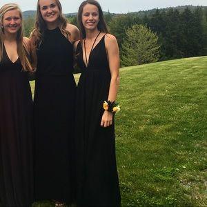 Black Strapy Maxi Dress